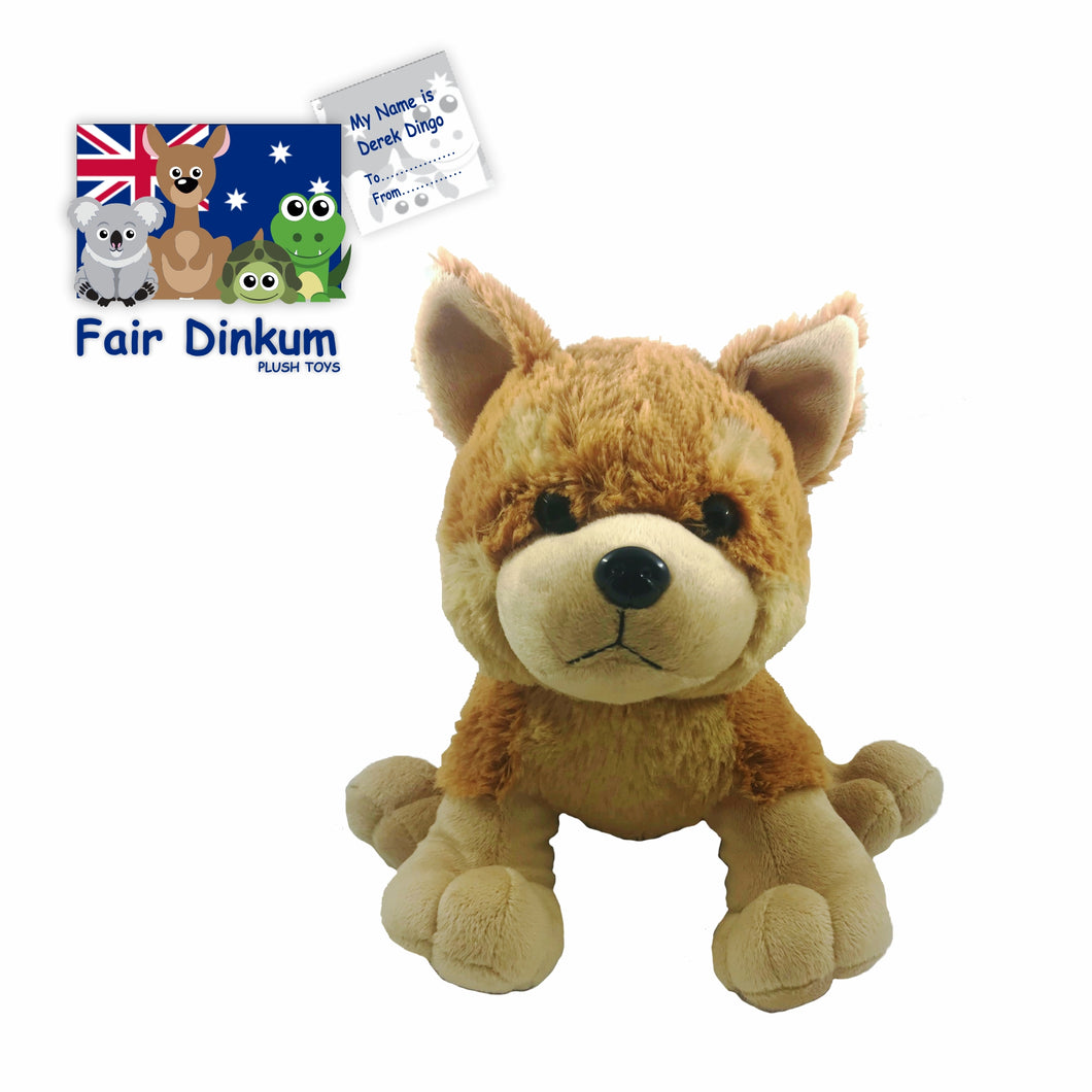 Derek Dingo Plush Toy Australia - 23cm - fair-dinkum-gifts
