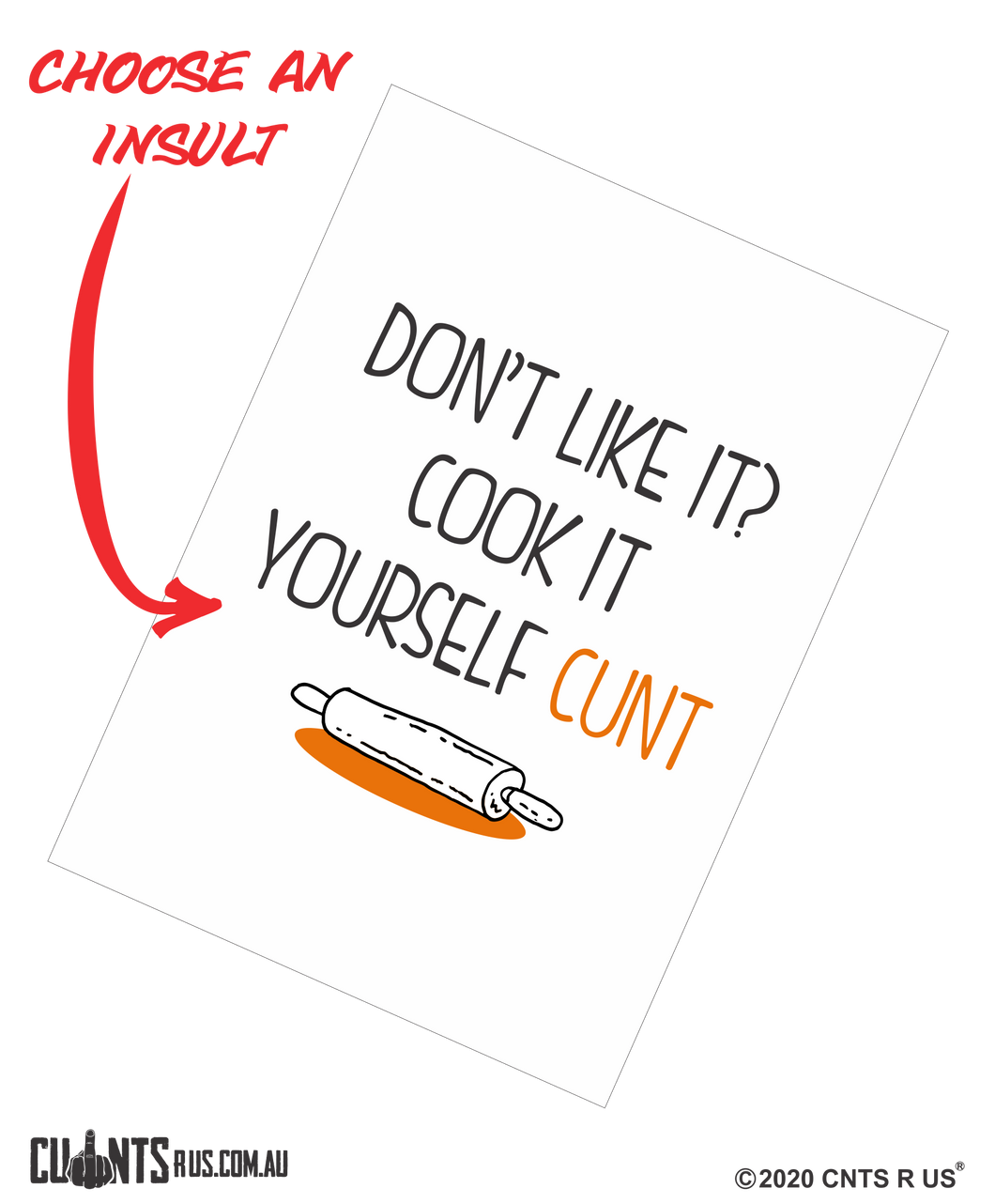 Don't Like It? Cook It Yourself Cunt Cotton Teatowel CRU03-03-14003