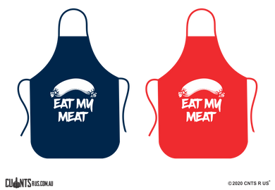 Eat My Meat Apron - Choose From Red or Navy Blue CRU06-01-28004