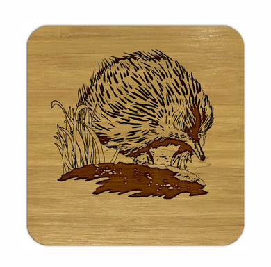 ECHIDNA Bamboo Coasters Eco Friendly Set Of 4 Drink Coasters in Box - fair-dinkum-gifts