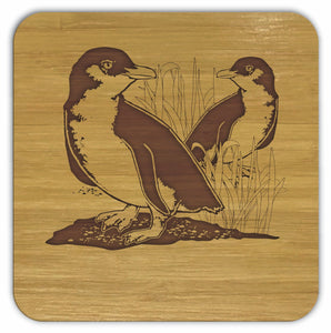 FAIRY PENGUINS Bamboo Coasters Eco Friendly Set Of 4 Drink Coasters in Box - fair-dinkum-gifts