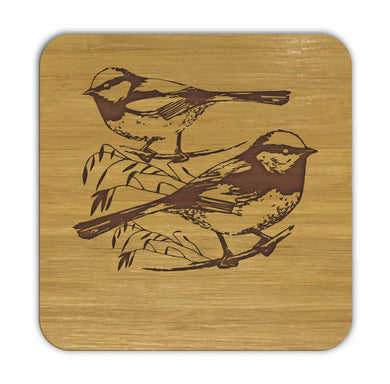FAIRY WRENS Bamboo Coasters Eco Friendly Set Of 4 Drink Coasters in Box - fair-dinkum-gifts