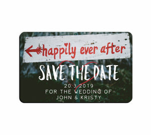 Bulk Lot Save The Date Flexi Happily Ever After Customised Magnets Wedding Names - fair-dinkum-gifts