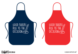 Good Bakers Rise To The Occasion Apron - Choose From Red or Navy Blue