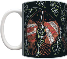 Load image into Gallery viewer, Aboriginal Art Coffee Mug Gift Present Birthday Christmas Graham Kenyon Indigenous Artist - fair-dinkum-gifts