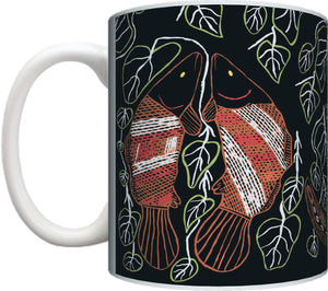 Aboriginal Art Coffee Mug Gift Present Birthday Christmas Graham Kenyon Indigenous Artist - fair-dinkum-gifts