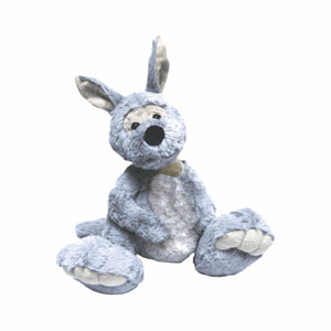 Grey Big Foot Roo Plush Toy Australia - 20cm - fair-dinkum-gifts