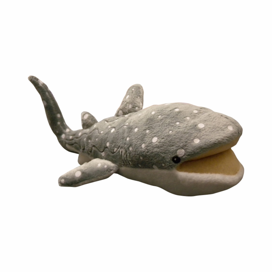 Grey Whale Shark Plush Toy Australia - 30cm - fair-dinkum-gifts