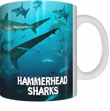 Load image into Gallery viewer, HAMMERHEAD SHARKS Mug Cup 300ml Gift Aussie Australia Animal Native Fish Sea Ocean Sharks - fair-dinkum-gifts