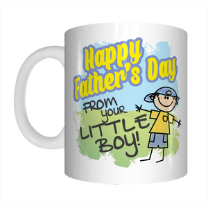 Happy Father's Day From Your Little Boy Coffee Mug Gift For Dads FDG07-92-26033