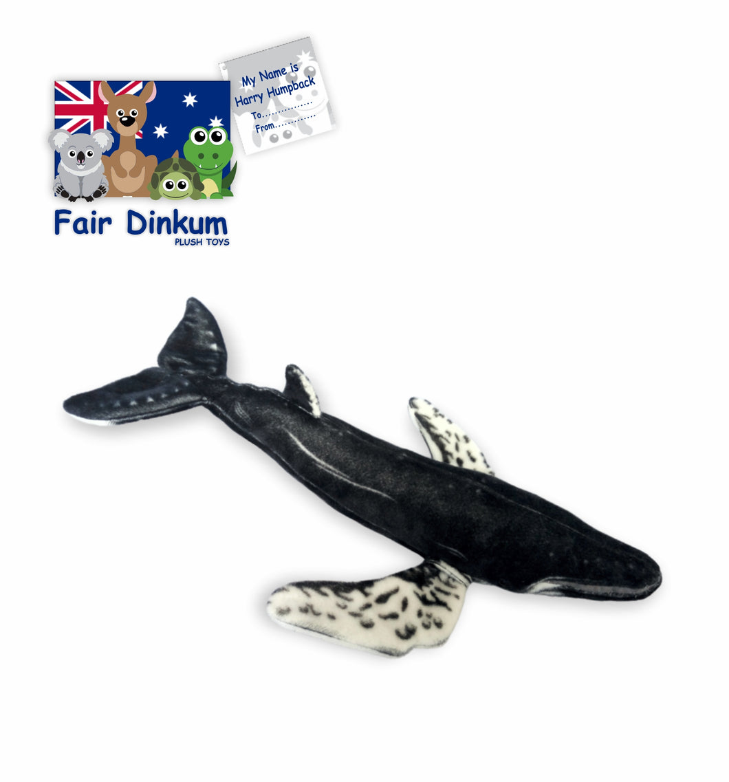 Harry Humpback Whale Plush Toy Australia - 60cm - fair-dinkum-gifts