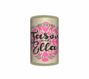 Bulk Customised Hessian Stubby Holders Wedding Favours Name Brides Grooms Date Gifts - fair-dinkum-gifts