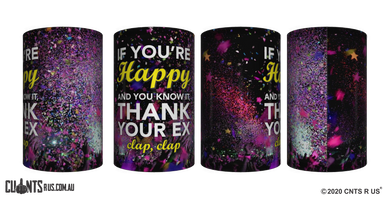 If You're Happy And You Know It Stubby Holder CRU26-40-12144 - fair-dinkum-gifts