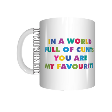In A World Full Of Cunts You Are My Favourite Mug Coffee Gift Present Novelty Funny Rude - fair-dinkum-gifts