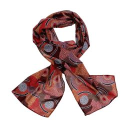 Aboriginal Scarf (SHORT LENGTH) Bulurru Australia Indigenous Design Aboriginal Giftware Hat