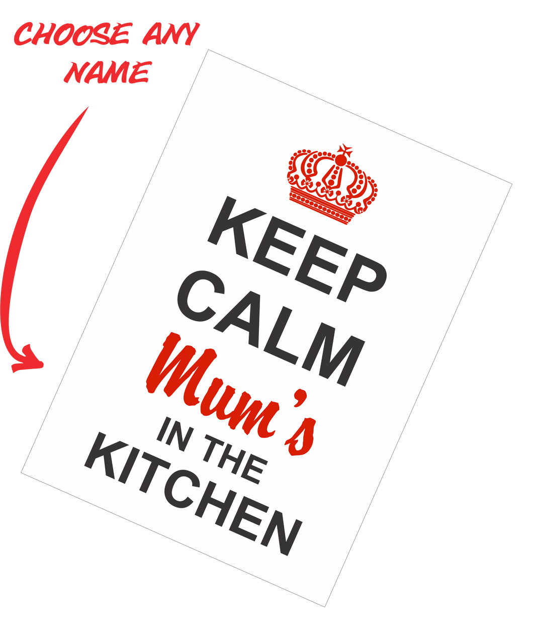 Personalised Mother's Day Teatowel - Keep Calm Mum's In The Kitchen FDG03-03-20005 - fair-dinkum-gifts