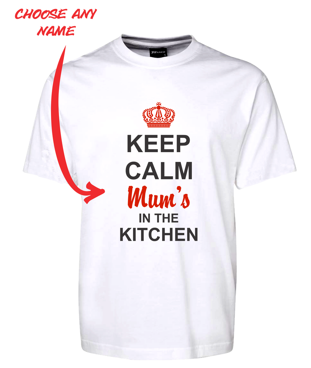 Keep Calm Mum's In The Kitchen Tee T-Shirt For Mother's Day Birthday