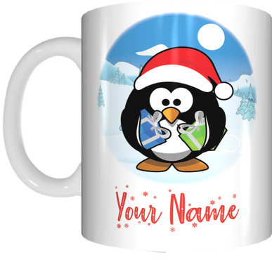 KIDS Christmas Personalised Name Mug XMAS Gift for Children Customised With Own Name