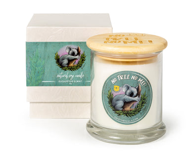 KOALA FOUNDATION EUCALYPTUS SCENTED CANDLE NO TREE NO ME