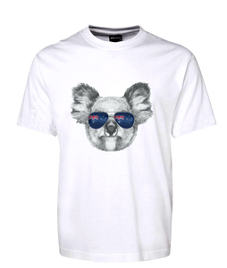 Koala With Sunglasses Australian Flag Tee T-Shirt
