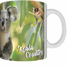 Load image into Gallery viewer, KOALA AND COCKATOO Mug Cup 300ml Gift Native Aussie Australia Animal Wildlife Birds Koalas Cockatoos - fair-dinkum-gifts
