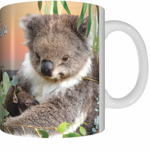 KOALA NURSERY Mug Cup 300ml Gift Native Aussie Australia Animal Wildlife Birds Baby Koalas Joeys - fair-dinkum-gifts