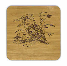 Load image into Gallery viewer, KOOKABURRA Bamboo Coasters Eco Friendly Set Of 4 Drink Coasters in Box - fair-dinkum-gifts