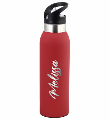 Personalised Drink Bottle 500ml Stainless Steel Laser Engraved Choose Your Colour - fair-dinkum-gifts