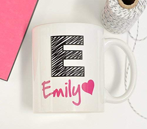 Monogram Name Letter Coffee Mug Gift Present PERSONALISED Customised Any Name - fair-dinkum-gifts