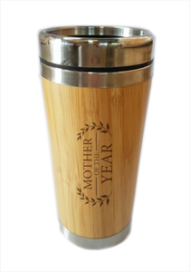 Bamboo Travel Mug Mother Of The Year Gift For Mother's Day