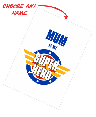 Mother's Day Teatowel - Mum Is My Super Hero FDG03-03-20007