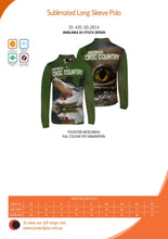 Load image into Gallery viewer, Croc Country Sublimated Polo Shirt Australia Crocodiles Aussie Great Outdoors Outback