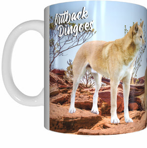 OUTBACK DINGO Mug Cup 300ml Gift Aussie Australia Animal Native Dingoes - fair-dinkum-gifts
