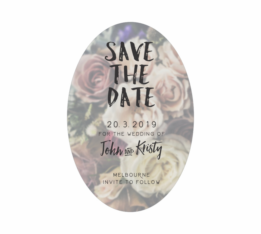 Bulk Lot Classic Oval Save The Date Customised Magnets Wedding Brides Grooms Name - fair-dinkum-gifts