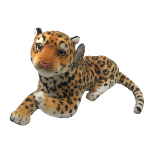 *CLEARANCE* Orange Leopard Lying Plush Toy Australia - 20cm