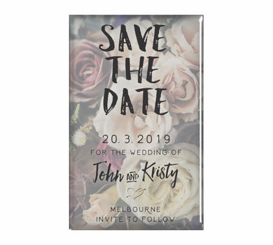 Bulk Lot Panoramic Classic Save The Date Customised Magnets Wedding Brides Grooms Name - fair-dinkum-gifts