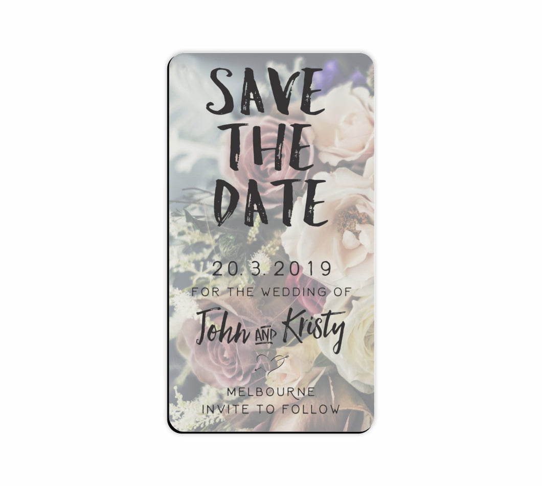 Bulk Lot Panoramic Flexi Save The Date Customised Magnets Wedding Brides Grooms Name - fair-dinkum-gifts
