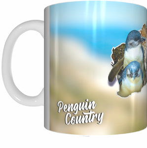 PENGUIN COUNTRY Mug Cup 300ml Gift Native Aussie Australia Animal Wildlife Birds Penguins - fair-dinkum-gifts