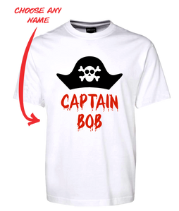 Pirate Captain Personalised Tee T-Shirt FDG01-1HT-23015 - fair-dinkum-gifts