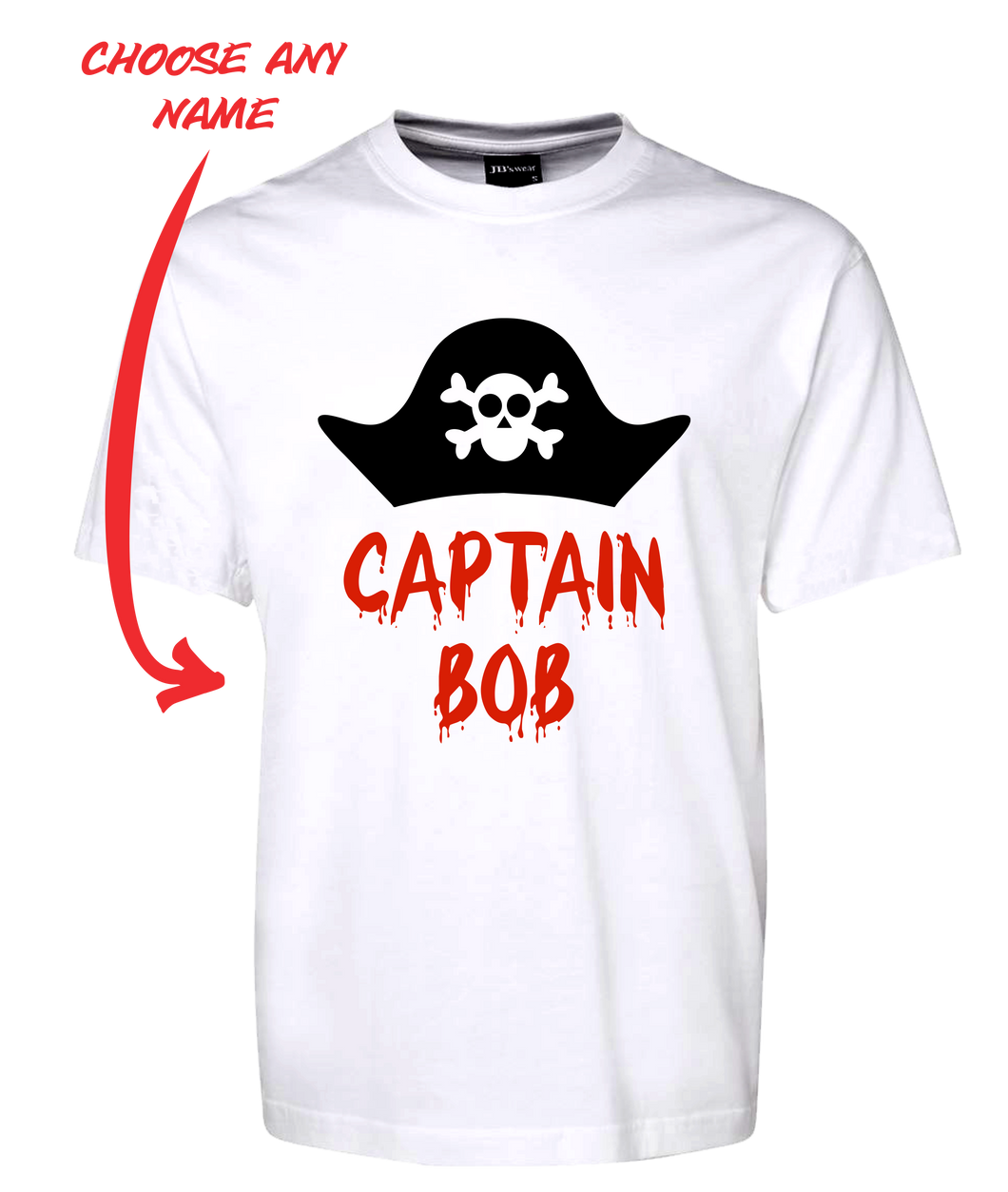 Pirate Captain Personalised Tee T-Shirt FDG01-1HT-23015