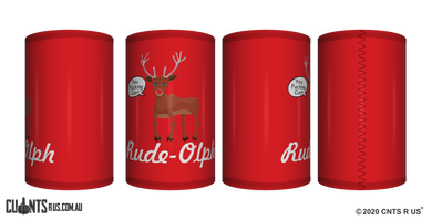 Rude-Olph Stubby Holder CRU26-40-12090 - fair-dinkum-gifts