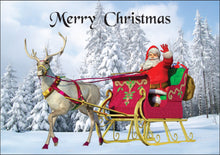 Load image into Gallery viewer, 3D Printed Christmas Greeting Cards Aussie Australian Santa CLEARANCE - fair-dinkum-gifts