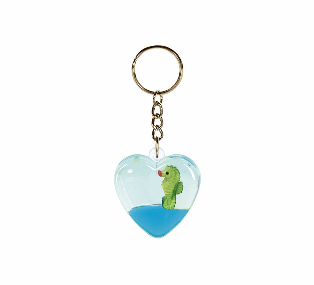 Oily Heart Key Rings Aussie Gifts Souvenirs Coloured Liquid with Floaters Love Heart Keyrings - fair-dinkum-gifts