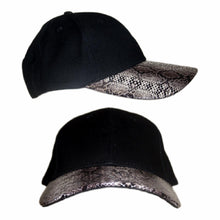 Load image into Gallery viewer, Snake Skin Curved Peak Cap Hat Australian Design Mens Womens Unisex - fair-dinkum-gifts