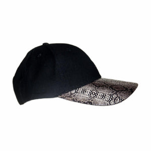 Snake Skin Curved Peak Cap Hat Australian Design Mens Womens Unisex - fair-dinkum-gifts