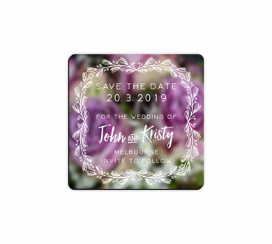 Bulk Lot Square Flexi Save The Date Customised Magnets Wedding Brides Grooms Name - fair-dinkum-gifts