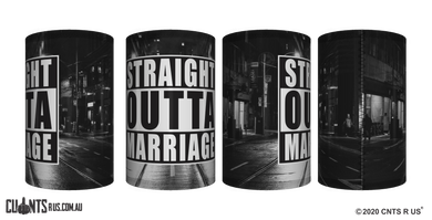 Straight Outta Marriage Stubby Holder CRU26-40-12146 - fair-dinkum-gifts