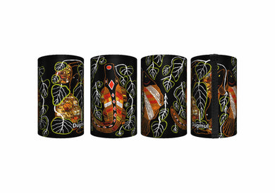 Set of 3 Aboriginal Art Stubby Holders Australia Aussie Graham Kenyon Indigenous - fair-dinkum-gifts