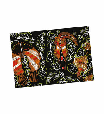 Aboriginal Art Tea Towels Set of 2 Indigenous Graham Kenyon Artist Teatowels - fair-dinkum-gifts