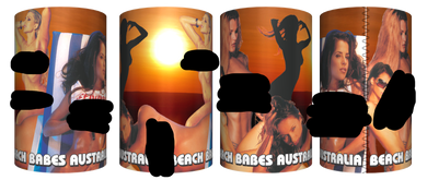 **CLEARANCE** Sexy Beach Babes Stubby Holder Drink Cooler Can Holder Neoprene Aussie Sunset - fair-dinkum-gifts